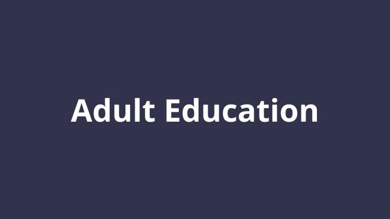 Topic title text: Adult Education