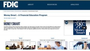 Home Page screenshot Money Smart Program FDIC