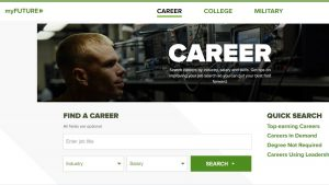 my future career page screenshot