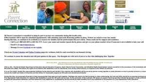 SD Parent Connection home page screenshot
