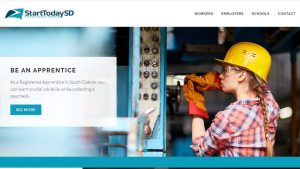 SD apprenticeships home page screenshot