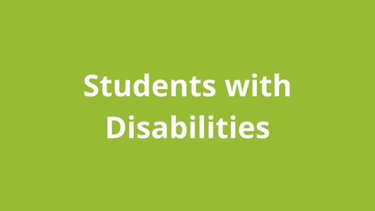Topic title text: Students with Disabilities
