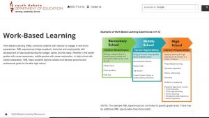 work based learning home page screenshot