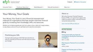 Home page screenshot Consumer Protection Financial Bureau