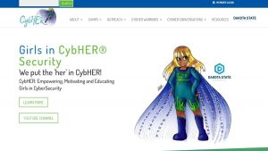 screenshot of CybHER website