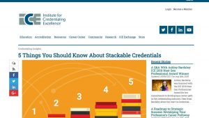 screenshot of blog article on stackable credentials