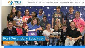 screenshot of TSLP website