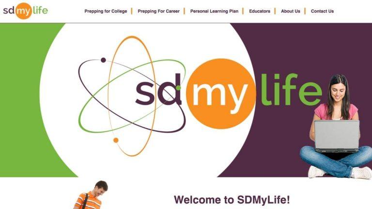 Screenshot of SDMyLife website
