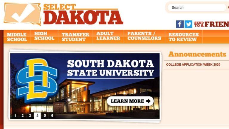 Image of Select Dakota website