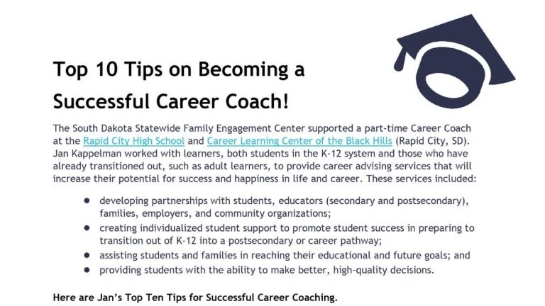 Image of Top 10 Tips on Becoming a Successful Career Coach document
