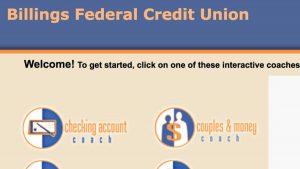 Screenshot of Billings Federal Credit Union website