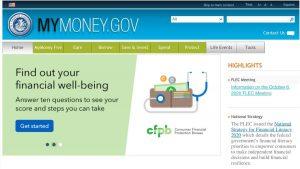 Screenshot of MyMoney.gov