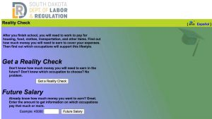 Screenshot of Reality Check website